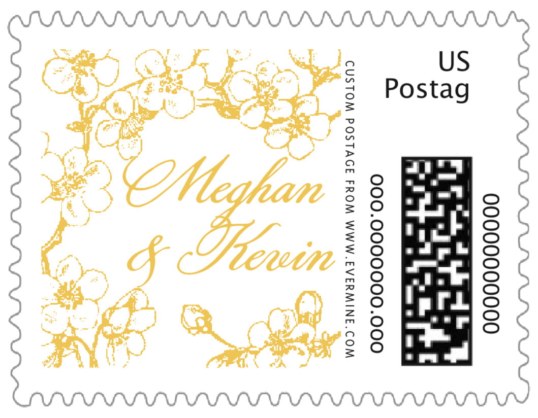 small custom postage stamps - amber - spring (set of 20)