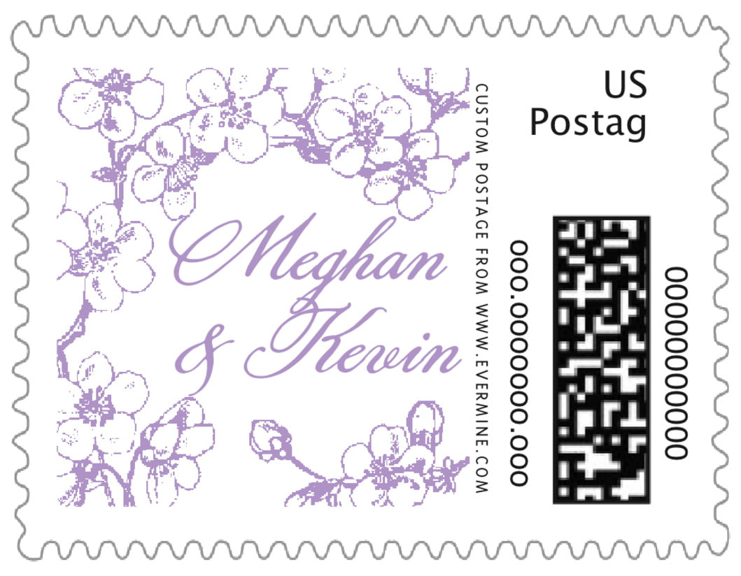 small custom postage stamps - lilac - spring (set of 20)
