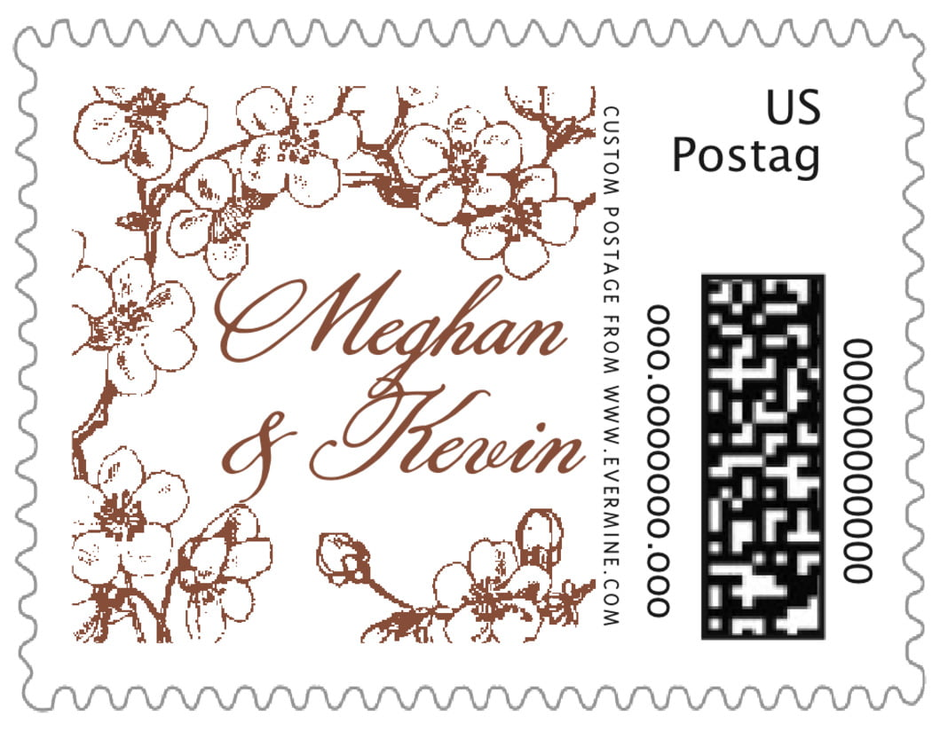 small custom postage stamps - chocolate - spring (set of 20)