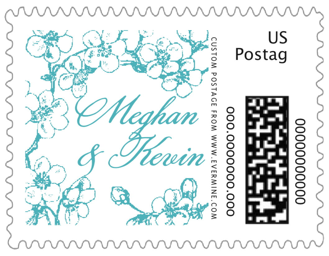 small custom postage stamps - lagoon - spring (set of 20)