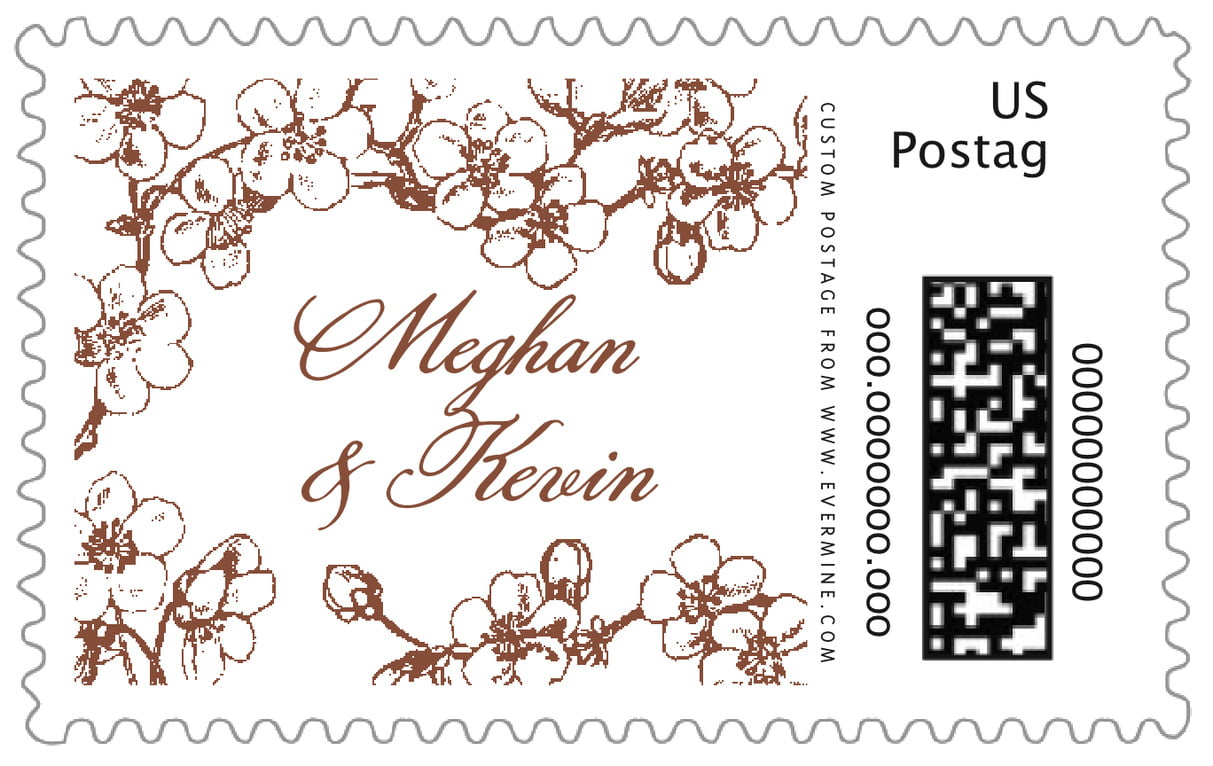 custom large postage stamps - chocolate - spring (set of 20)