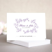 Spring wedding note cards