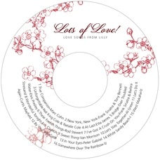 Spring valentine's day CD/DVD labels