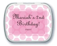 Swiss Dots kid/teen birthday mint tins