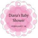 Swiss Dots baby shower tags