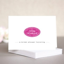 Swiss Dots bridal shower note cards