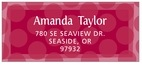 Swiss Dots designer address labels