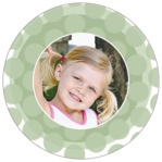 Swiss Dots circle photo labels