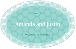 Swiss Dots wide oval hang tags