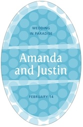 Swiss Dots tall oval labels