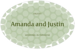 Swiss Dots large oval labels