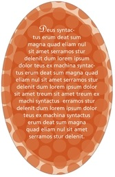 Swiss Dots oval text labels
