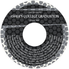 Swiss Dots graduation CD/DVD labels