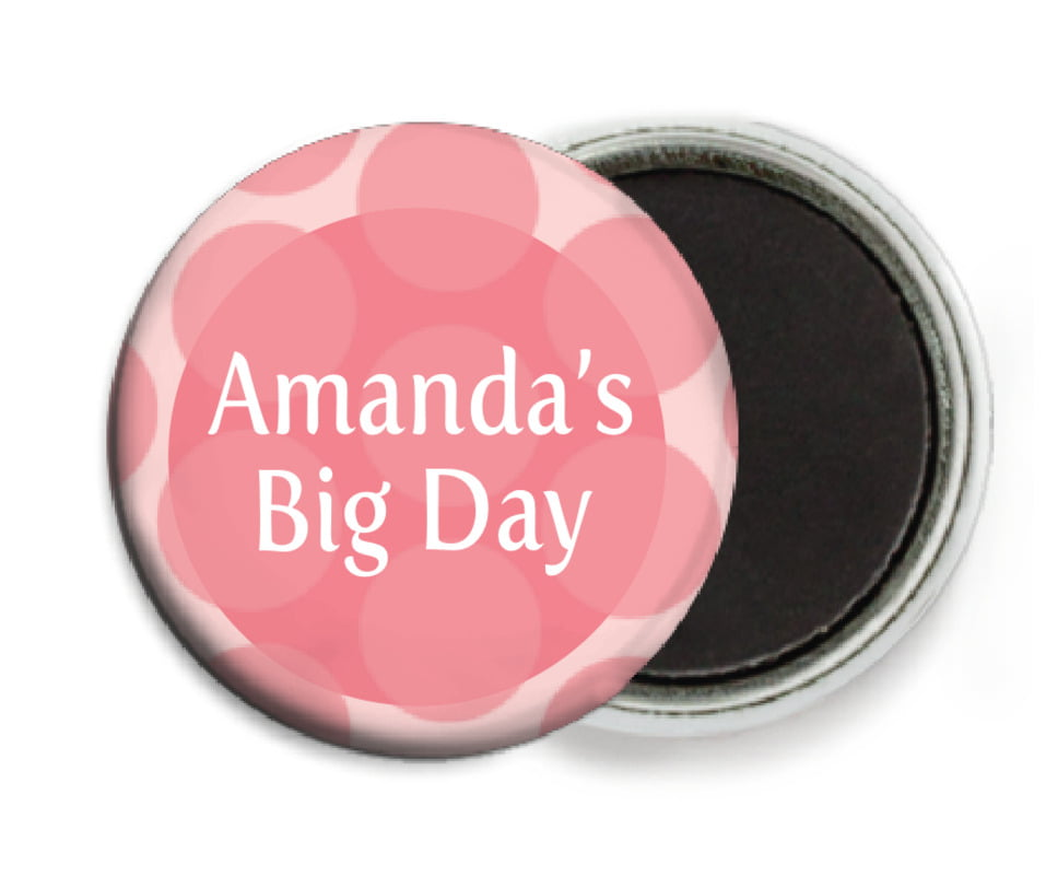custom button magnets - grapefruit - swiss dots (set of 6)