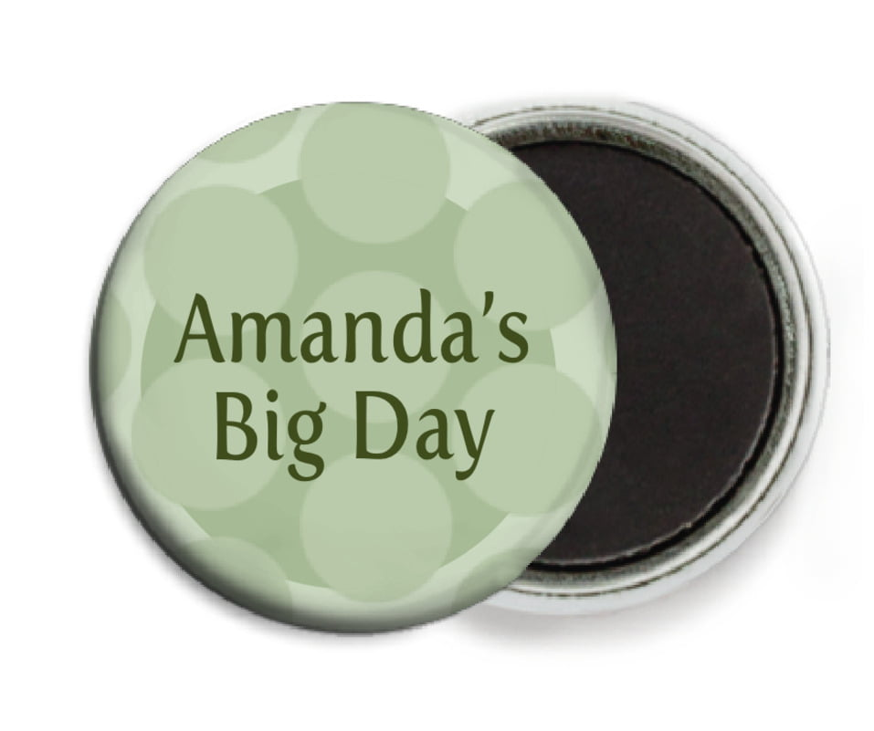 custom button magnets - sage - swiss dots (set of 6)