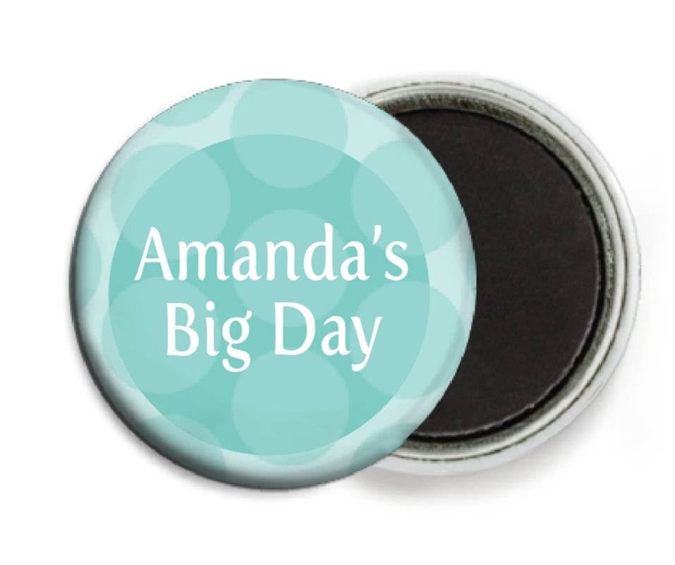 custom button magnets - aruba - swiss dots (set of 6)