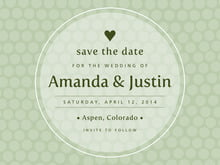 custom save-the-date cards - sage - swiss dots (set of 10)