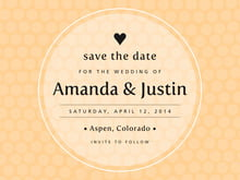 custom save-the-date cards - sunburst - swiss dots (set of 10)