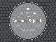 custom save-the-date cards - tuxedo - swiss dots (set of 10)