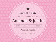 custom save-the-date cards - pale pink - swiss dots (set of 10)