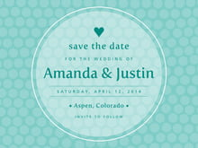 custom save-the-date cards - aruba - swiss dots (set of 10)