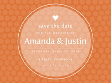 custom save-the-date cards - spice - swiss dots (set of 10)