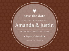 custom save-the-date cards - chocolate - swiss dots (set of 10)