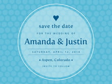 custom save-the-date cards - sky - swiss dots (set of 10)