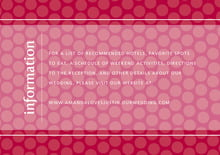 custom enclosure cards - deep red - swiss dots (set of 10)