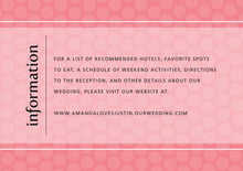 custom enclosure cards - grapefruit - swiss dots (set of 10)