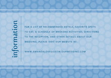 custom enclosure cards - blue - swiss dots (set of 10)