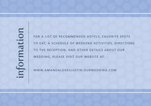 custom enclosure cards - periwinkle - swiss dots (set of 10)