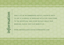 custom enclosure cards - green tea - swiss dots (set of 10)