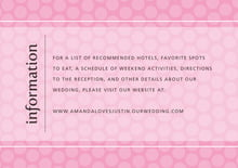 custom enclosure cards - pale pink - swiss dots (set of 10)