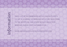 custom enclosure cards - lilac - swiss dots (set of 10)