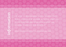 custom enclosure cards - bright pink - swiss dots (set of 10)