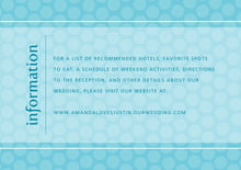 custom enclosure cards - bahama blue - swiss dots (set of 10)