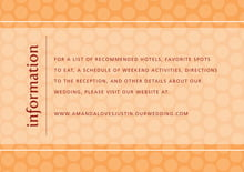 custom enclosure cards - tangerine - swiss dots (set of 10)