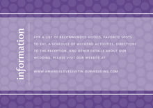 custom enclosure cards - purple - swiss dots (set of 10)