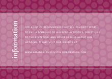 custom enclosure cards - burgundy - swiss dots (set of 10)