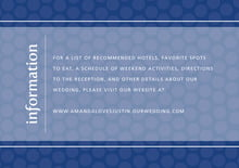 custom enclosure cards - deep blue - swiss dots (set of 10)