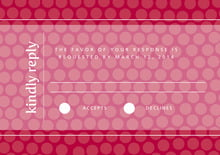 custom response cards - deep red - swiss dots (set of 10)