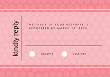 custom response cards - grapefruit - swiss dots (set of 10)