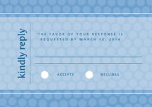 custom response cards - blue - swiss dots (set of 10)