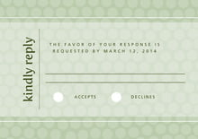 custom response cards - sage - swiss dots (set of 10)