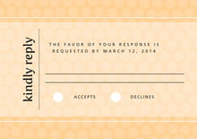 custom response cards - sunburst - swiss dots (set of 10)