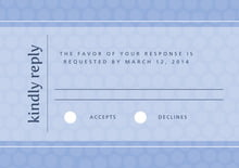 custom response cards - periwinkle - swiss dots (set of 10)