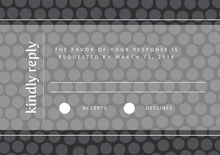 custom response cards - tuxedo - swiss dots (set of 10)