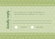 custom response cards - green tea - swiss dots (set of 10)