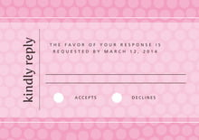 custom response cards - pale pink - swiss dots (set of 10)